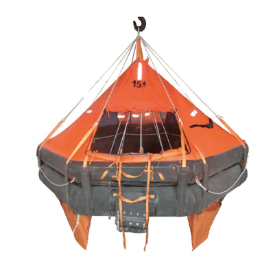 davit type inflatable life raft